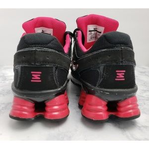 Nike Shoes - Nike Shox Girl's Youth Sneakers, Black & Pink 6.5Y